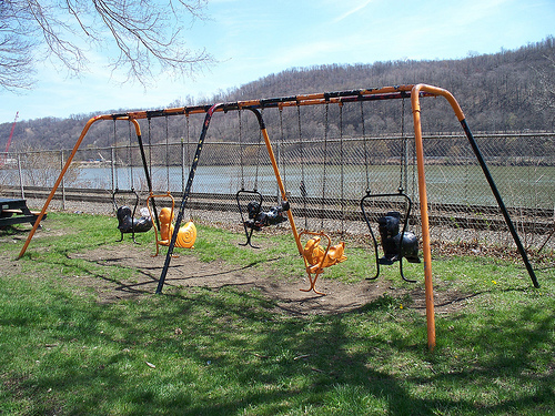 Dangerous Molded Animal Swings